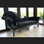 A A BLACK DIAMOND HAMPSHIRE CHAISE WITH SILVERED HIGHLIGHTS AND CRYSTAL BUTTONS = NEW IN = LATEST STYLE55
