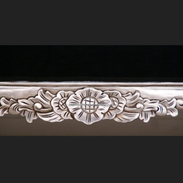 A A Black Velvet Hampshire Chaise Longue (large) in Silver Leaf 104