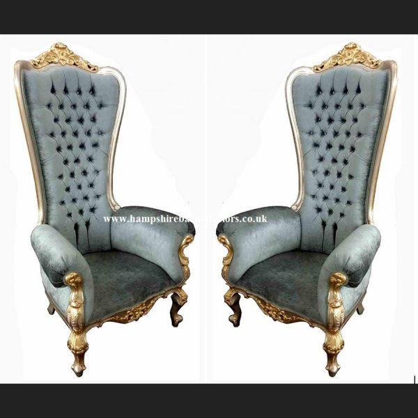 A A ELEGANCE HUGE THRONE CHAIR ..IN YOUR CHOICE FRAME COLOUR AND FABRIC COLOUR