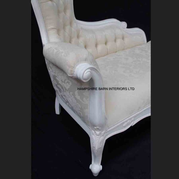 A A Elegance Designers High Back Chaise Longue ..available in WHITE or BLACK5