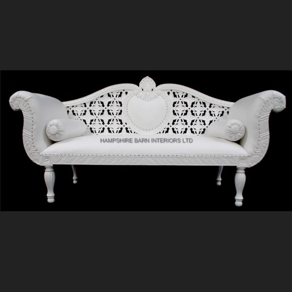 A A ROYAL WEDDING SET (SOFA PLUS TWO CHAIRS) IN GLOSS WHITE IN Easiclean White faux leather1