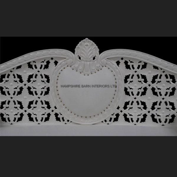 A A ROYAL WEDDING SET (SOFA PLUS TWO CHAIRS) IN GLOSS WHITE IN Easiclean White faux leather4