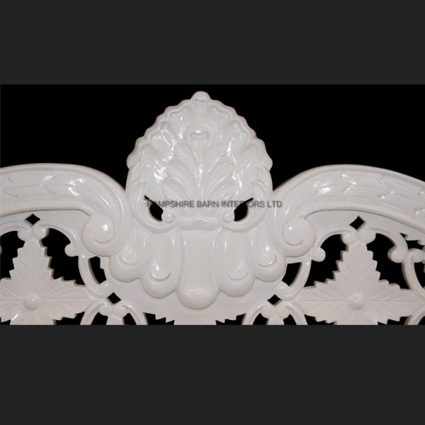 A A ROYAL WEDDING SET (SOFA PLUS TWO CHAIRS) IN GLOSS WHITE IN Easiclean White faux leather5