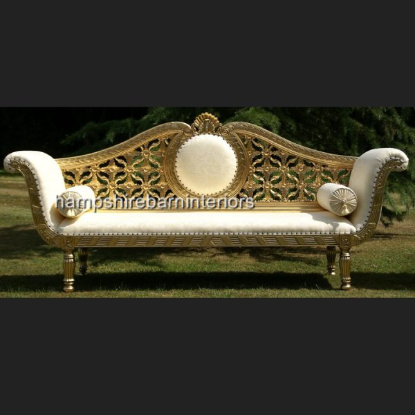 A A ROYAL WEDDING SET (SOFA PLUS TWO CHAIRS) IN GOLD LEAF shown in CREAM easiclean faux leather AND ALSO AVAILABLE IN IVORY CREAM FABRIC10
