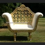 A A ROYAL WEDDING SET (SOFA PLUS TWO CHAIRS) IN GOLD LEAF shown in CREAM easiclean faux leather AND ALSO AVAILABLE IN IVORY CREAM FABRIC2