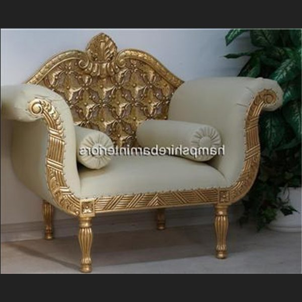A A ROYAL WEDDING SET (SOFA PLUS TWO CHAIRS) IN GOLD LEAF shown in CREAM easiclean faux leather AND ALSO AVAILABLE IN IVORY CREAM FABRIC3