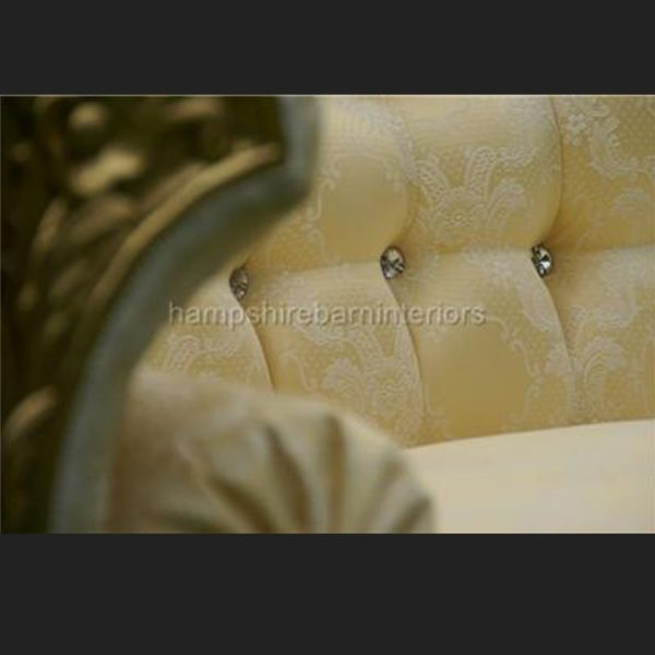 A DIAMOND WEDDING CHAISE LONGUE GOLD LEAF W CRYSTAL BUTTONS MARBELLA GOLD3