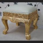 A GOLD LEAF HEAVILY CARVED WEDDING OR EVENT OR HOME STOOL1