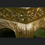A GOLD LEAF HEAVILY CARVED WEDDING OR EVENT OR HOME STOOL4