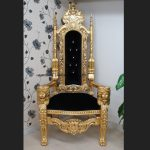 A GOLD LION KING THRONE CHAIR Choice of Fabrics with Diamond Crystal Buttons1