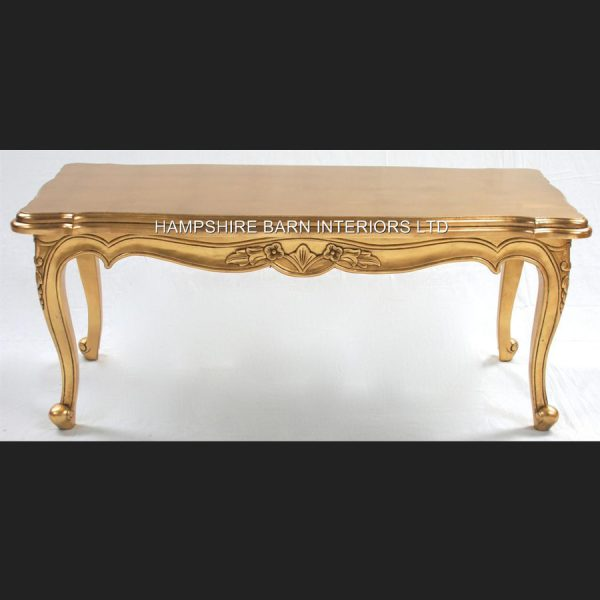 A Gold OR Silver Large Leaf Ornate Chateau Style Coffee Table1