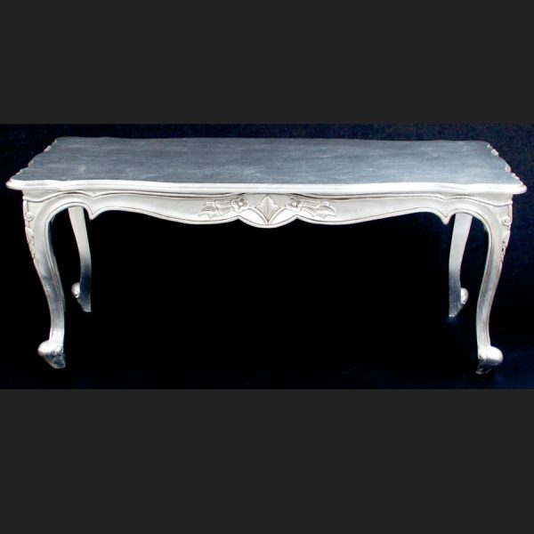 A Gold OR Silver Large Leaf Ornate Chateau Style Coffee Table3