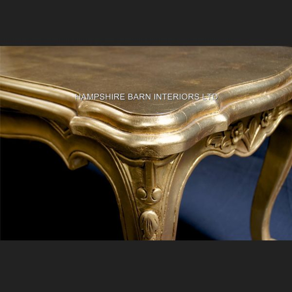 A Gold OR Silver Large Leaf Ornate Chateau Style Coffee Table5j copy