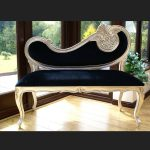 A HARP LOVE SEAT SOFA CHAISE either Gold or Silver Leaf1