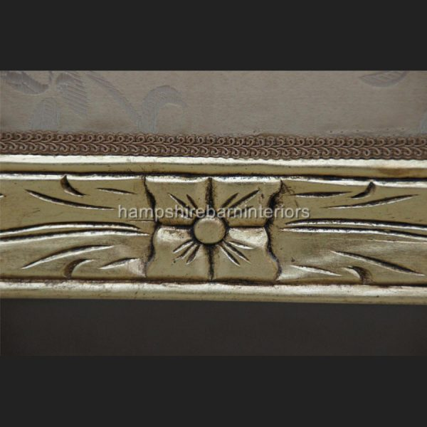 A KNIGHTSBRIDGE chaise longue lounge sofa in GOLD LEAF and GOLD fabric3