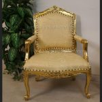A Knightsbridge three piece suite set (one chaise plus two matching chairs) Gold Leaf2