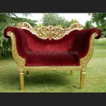 A PRIANKA WEDDING STAGE SET IN GOLD LEAF AND RED VELVET2