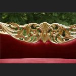 A PRIANKA WEDDING STAGE SET IN GOLD LEAF AND RED VELVET3