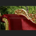 A PRIANKA WEDDING STAGE SET IN GOLD LEAF AND RED VELVET4