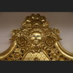 A QUEENS THRONE CHAIR..GOLD LEAF, BLACK VELVET AND DIAMOND CRYSTAL BUTTONS6