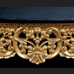 A RITZ GOLD LEAF ORNATE CONSOLE TABLE W BLACK MARBLE TOP DISPLAY ENTRANCE HALL2