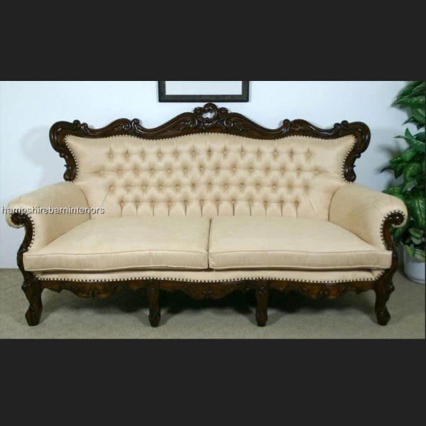 A Shaadi Sofa Set in Mahogany and Cream2