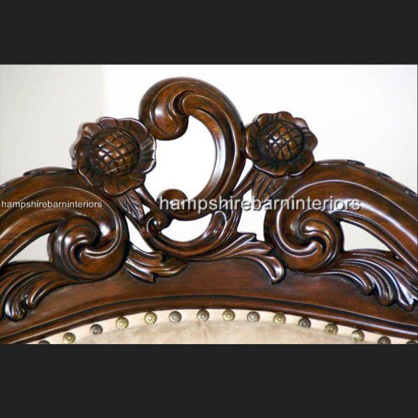 A Shaadi Sofa Set in Mahogany and Cream3