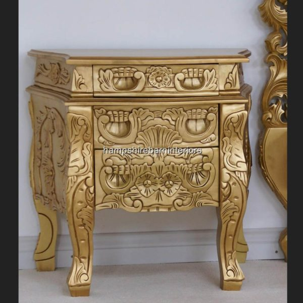 ANTIQUED GOLD LEAF ROCOCO2