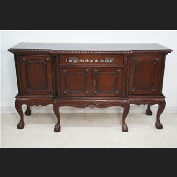 An Antique Reproduction Breakfront Mahogany Sideboard1