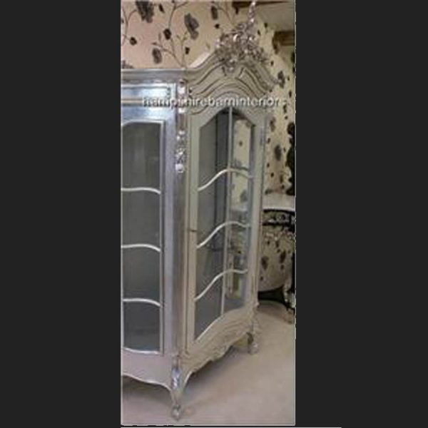 An Ornate French Louis Style Carved SILVER LEAF DISPLAY CABINET, ALSO IN GOLD LEAF5