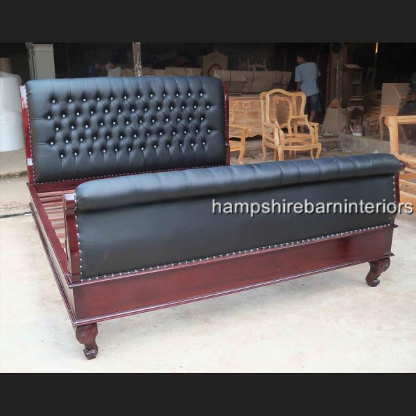 An Ornate Kensington Super King Bed in faux leather and crystal buttoning (various finishes)3
