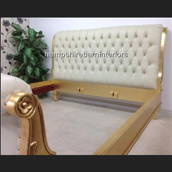 An Ornate Kensington Super King Bed in faux leather and crystal buttoning (various finishes)5