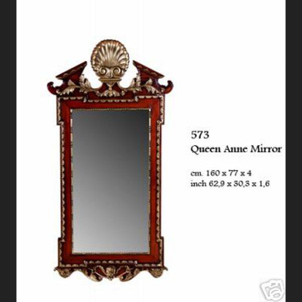 Antique Style Queen Anne Mirror