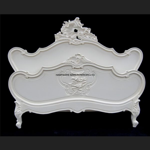 Antique White Chateau Louis Bed Special Edition1