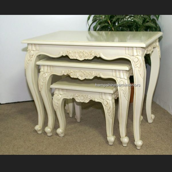 Antique White Nest of 3 tables (also available in other finishes)2