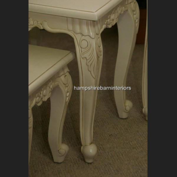 Antique White Nest of 3 tables (also available in other finishes)3