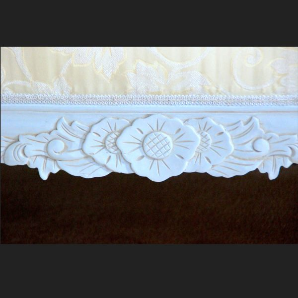 Antique White Ornate Wedding Sofa…now with DIAMOND CRYSTAL BUTTONS2