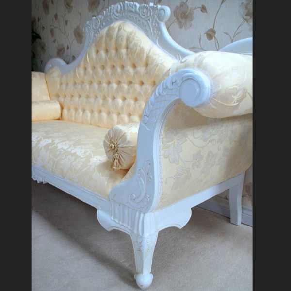 Antique White Ornate Wedding Sofa…now with DIAMOND CRYSTAL BUTTONS3
