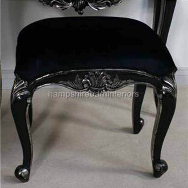 BELGRAVIA dressing table & Stool shown in silvered black finish …others colours to made to order2