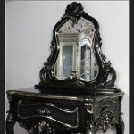 BELGRAVIA dressing table & Stool shown in silvered black finish …others colours to made to order3