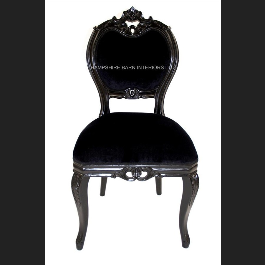 Bedroom Chairs With Table Red Velvet Curtains Bedroom Anime Bedroom Drawing Newcastle United Bedroom Wallpaper: Black Beauty French Chateau Noir Style Ornate Chair Black