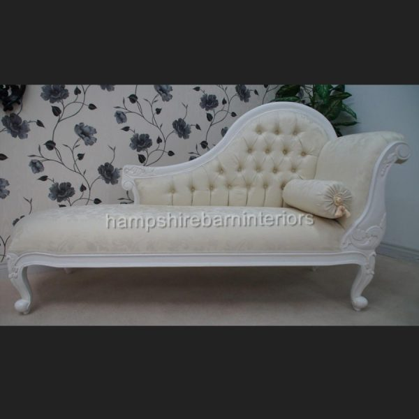 CHELSEA CLASSICAL FRENCH CHAISE IN EITHER BLACK OR WHITE2