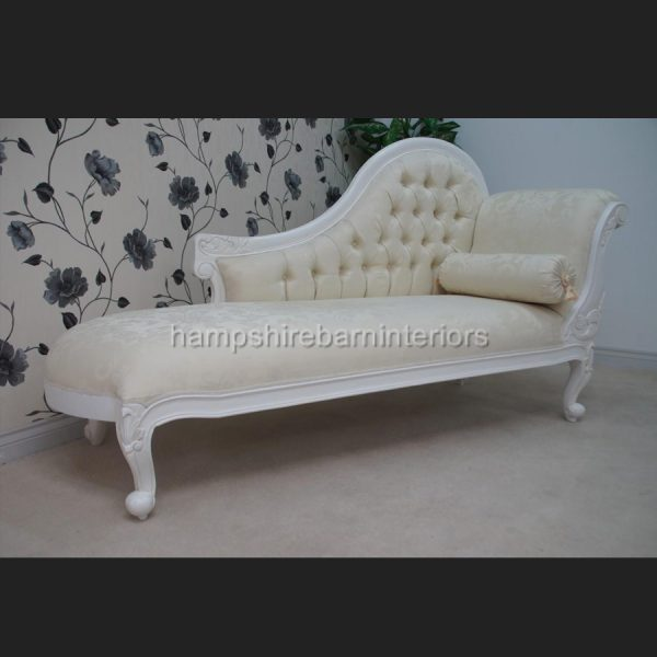 CHELSEA CLASSICAL FRENCH CHAISE IN EITHER BLACK OR WHITE3