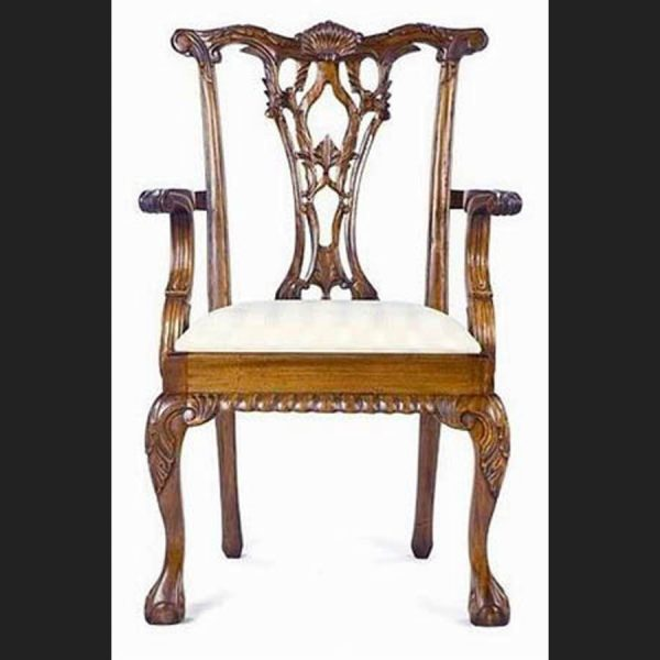 CHIPPENDALE STYLE DINING CHAIRS (also available without arms)1