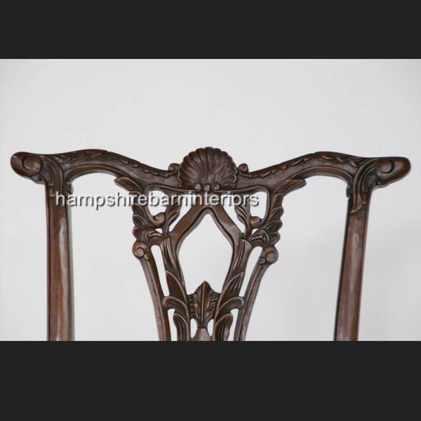 CHIPPENDALE STYLE DINING CHAIRS (also available without arms)3
