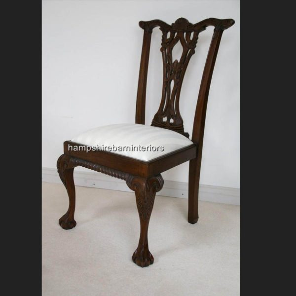 CHIPPENDALE STYLE DINING CHAIRS (also available without arms)5