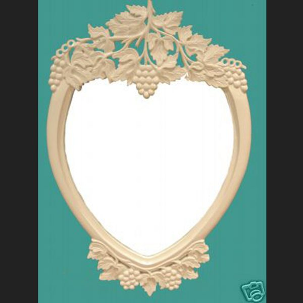 Carved Grape Heart Mirror