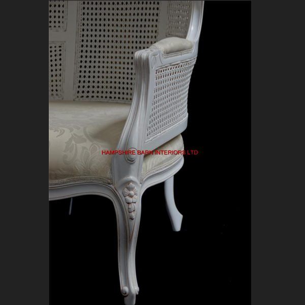 Chateau Antique White Feature Tall Throne Arm Chair French designer hooded canopy4