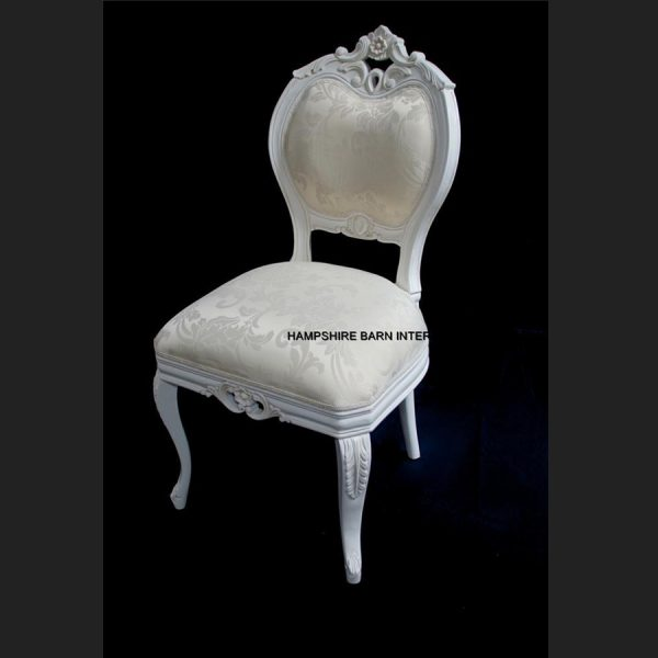 Chateau French Style Boudoir Ornate White Chair ..dining, desk, dressing table or occasional2