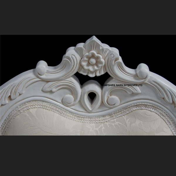 Chateau French Style Boudoir Ornate White Chair ..dining, desk, dressing table or occasional4